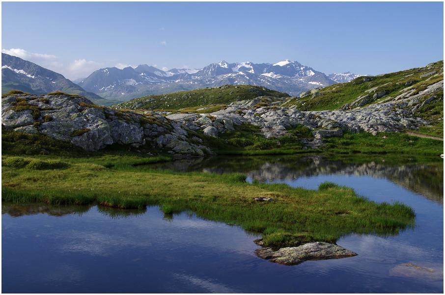 Blick zu den Gipfeln über dem Obergoms