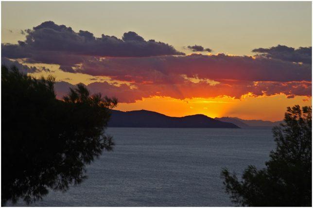 Blick auf die Inseln Giglio und Montecristo