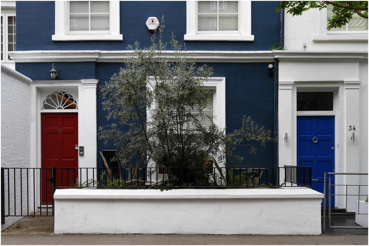 Typische Hauseingänge in Notting Hill