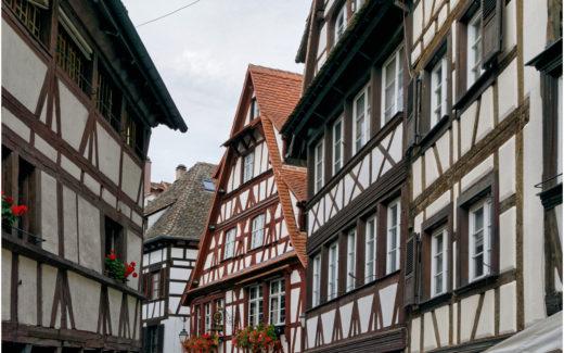 Riegelhäuser im Zentrum von Strassburg