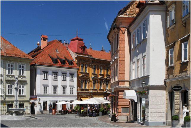 Platz in der Altstadt Ljubljanas
