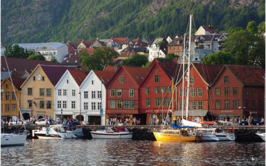 Die historischen Handelshäuser Bryggen