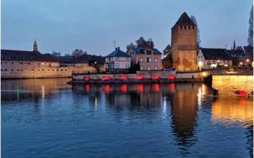 An der Barrage Vauban in Strasbourg