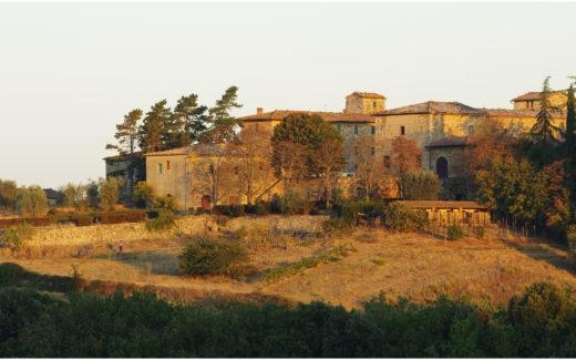 Hof bei Castellina in Chianti im Morgenlicht