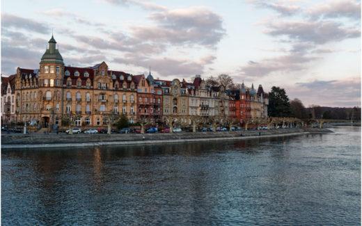 Häuserzeile an der Seestrasse in Konstanz