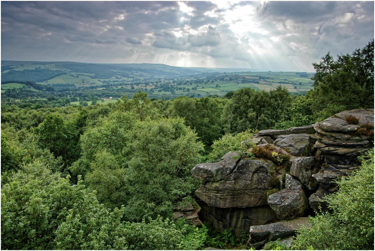 Ausblick von den Brimham Rocks