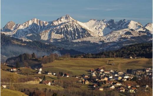 Blick von Sankt Silvester Richtung Plaffeien und Gantrisch