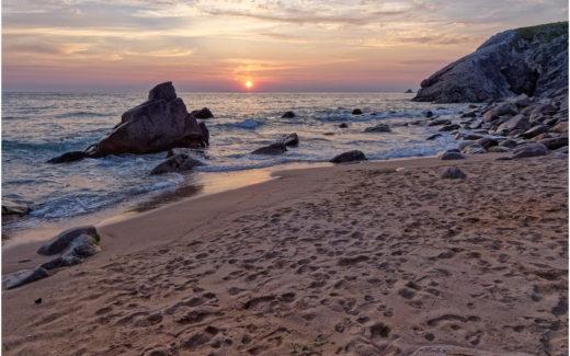 Sonnenuntergang am Strand von Port Bara