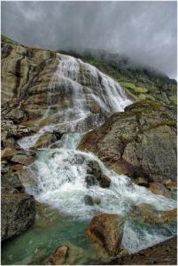 Detailansicht des Wasserfalls