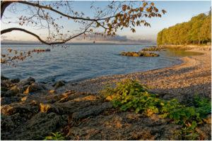 An dieser Stelle des Sees gibt es sogar einen kleinen Strand