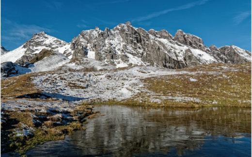 Bergsee bei der Bergstation der Pizolbahn
