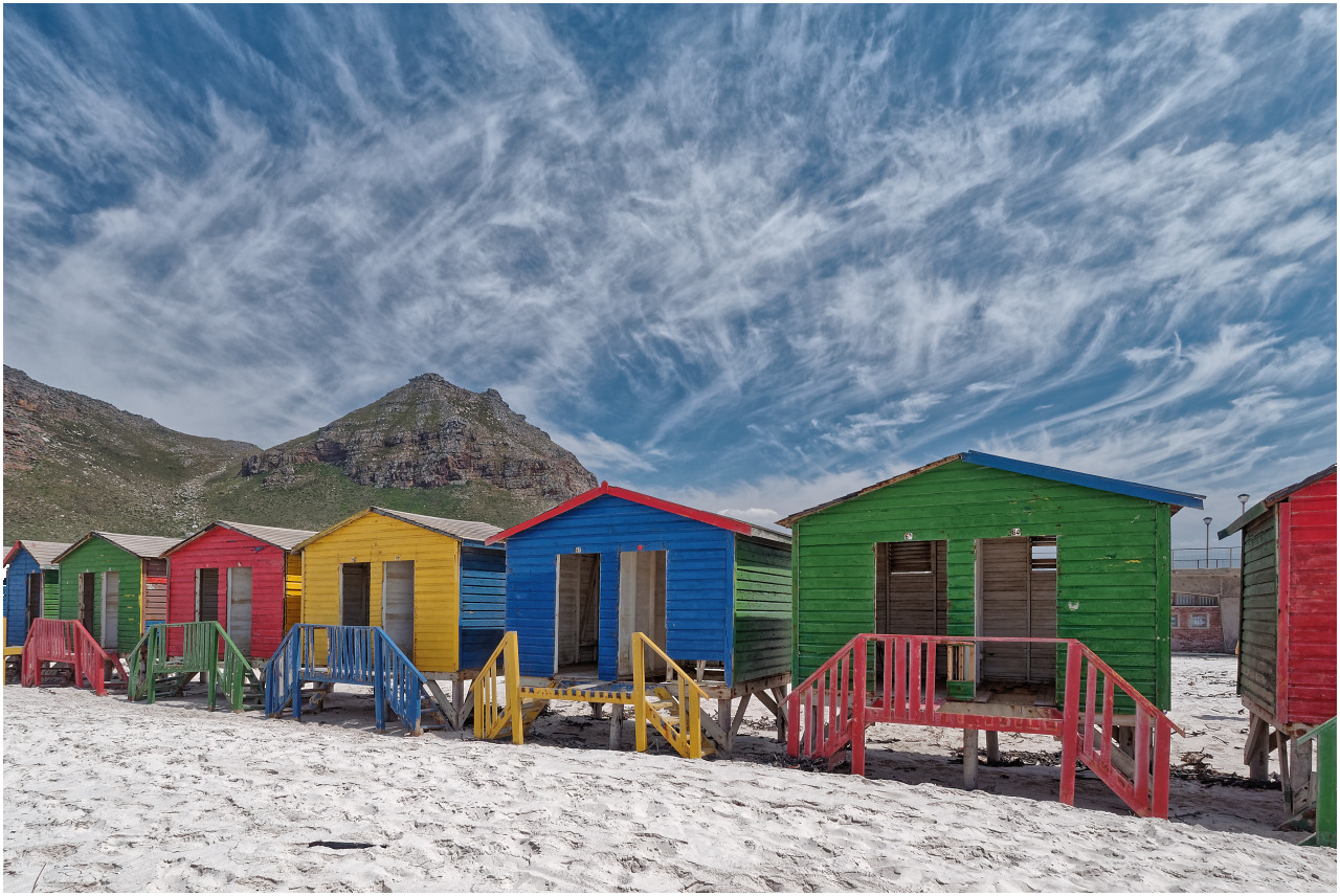 Strandhäuser am Muizenberg Beach