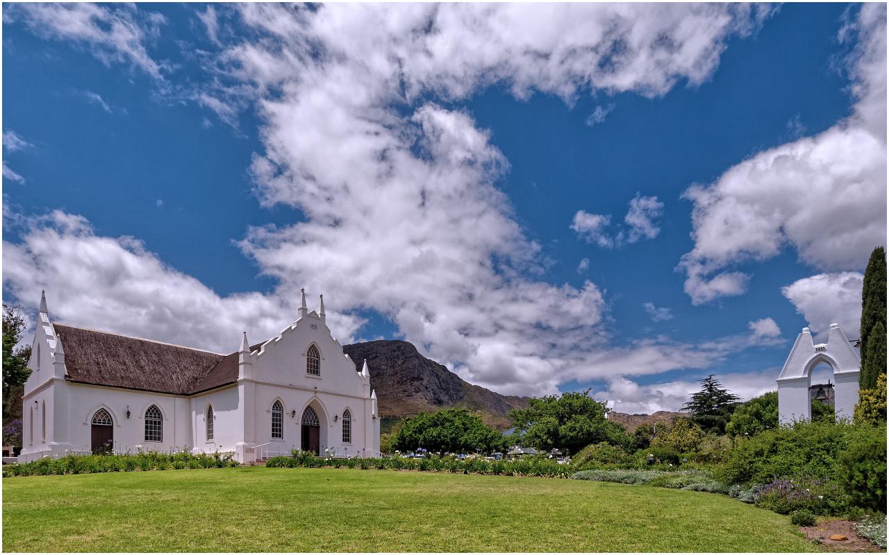 Die niederländisch-reformierte Kirche von Franschhoek