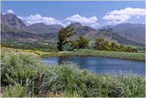 Kleiner See zuoberst im Franschhoek Valley