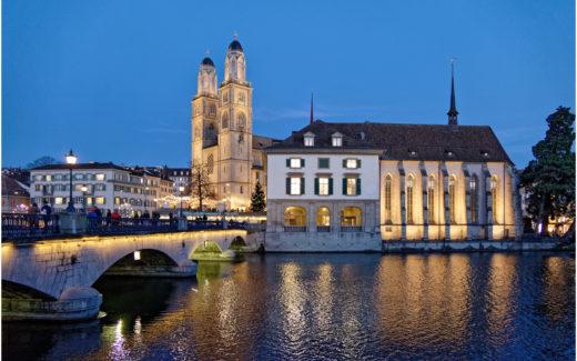 Helmhaus, Wasserkirche und Grossmünster