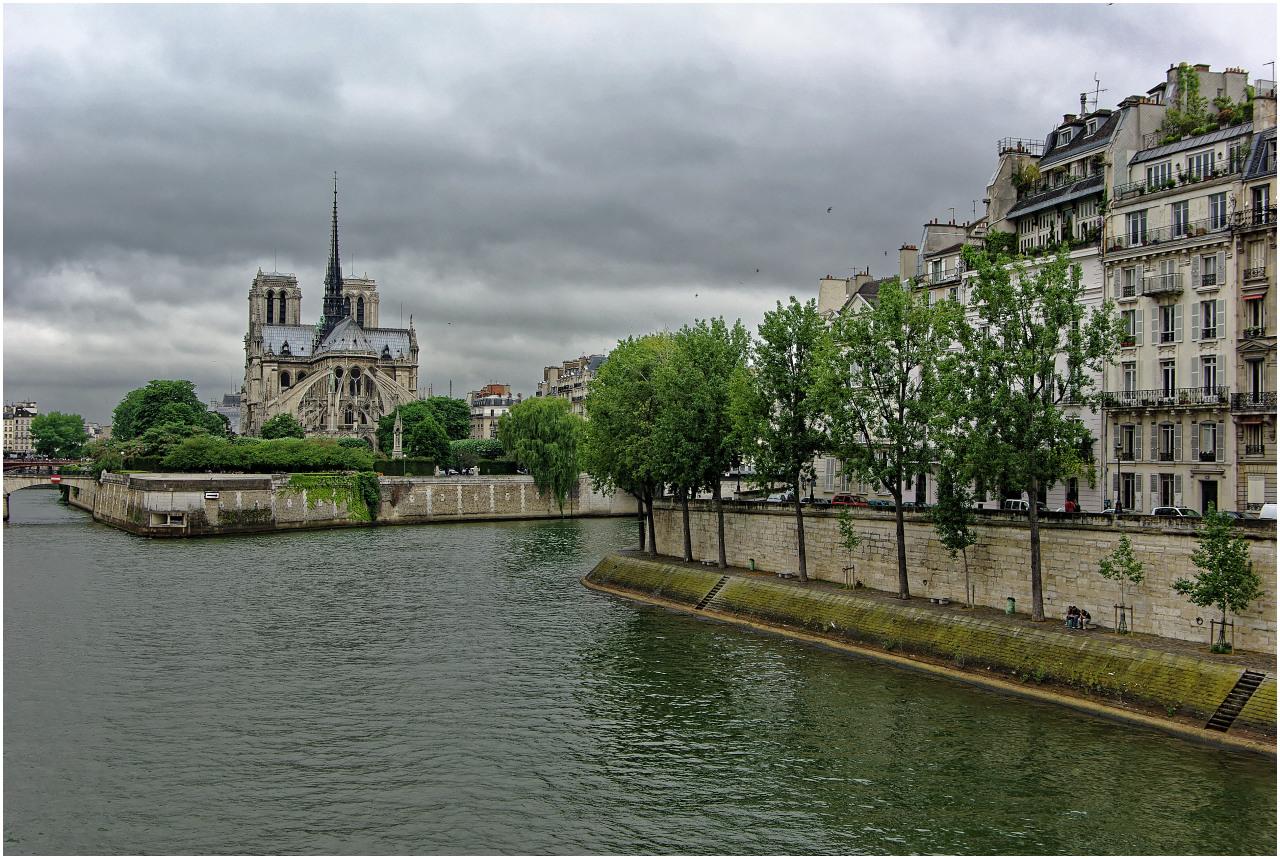 Quai d'Orléans und Notre-Dame