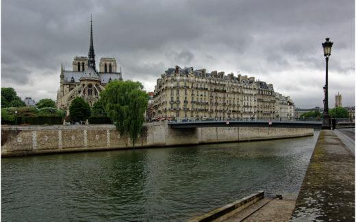 Blick vom Quai d'Orléans zur Île de la Cité