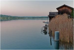 Bootshäuser bei der Anlegestelle Delphin
