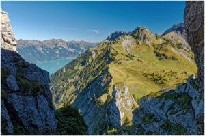 Zwischen den Felsen beim Aufstieg aufs Oberberghorn