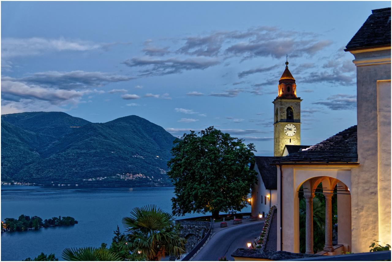 Der Blick von Ronco auf den Lago Maggiore