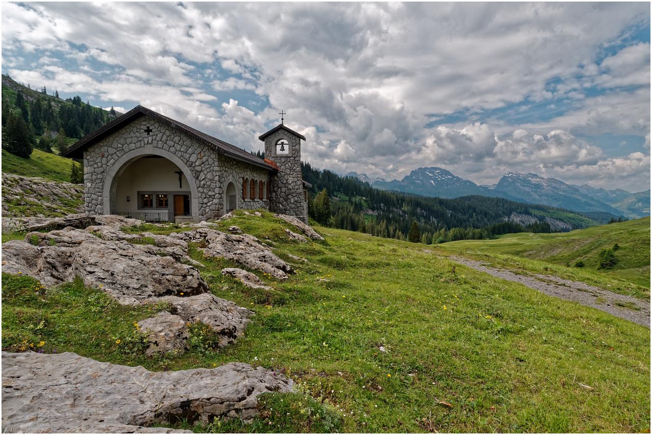 Die Kapelle auf dem Pragelpass