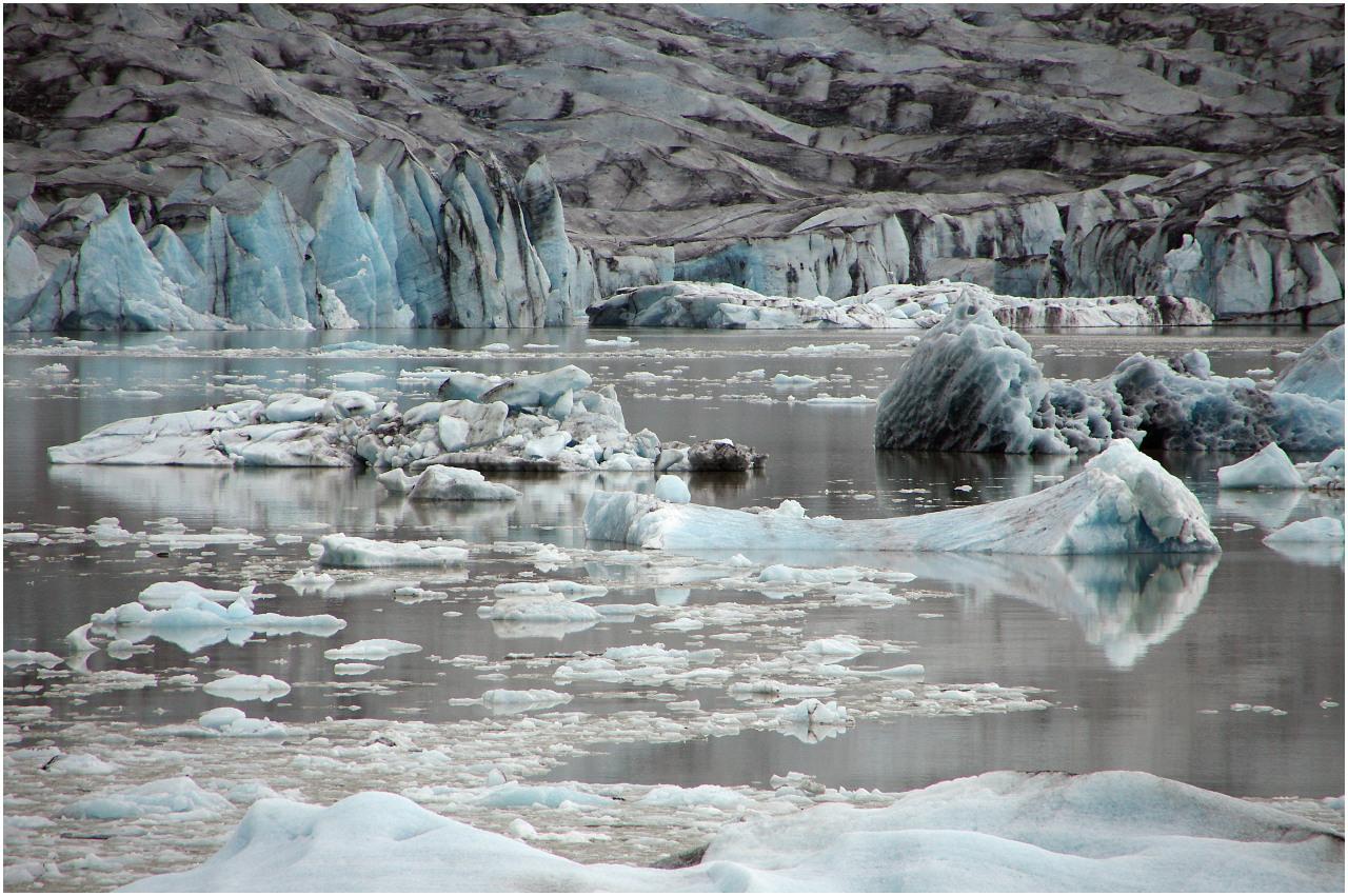 Detail an der Lagune Fjallsárlón
