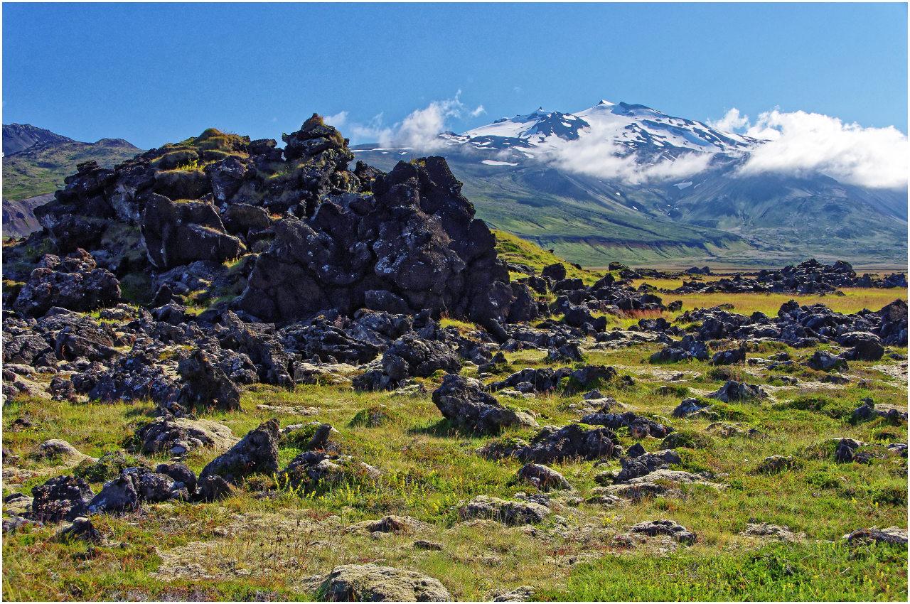 Landschaft im Naturschutzgebiet am Vulkan