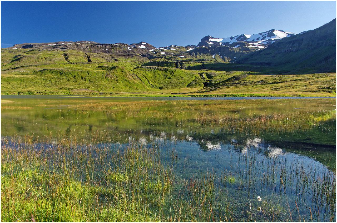 Moorlandschaft bei Grundarfjörður