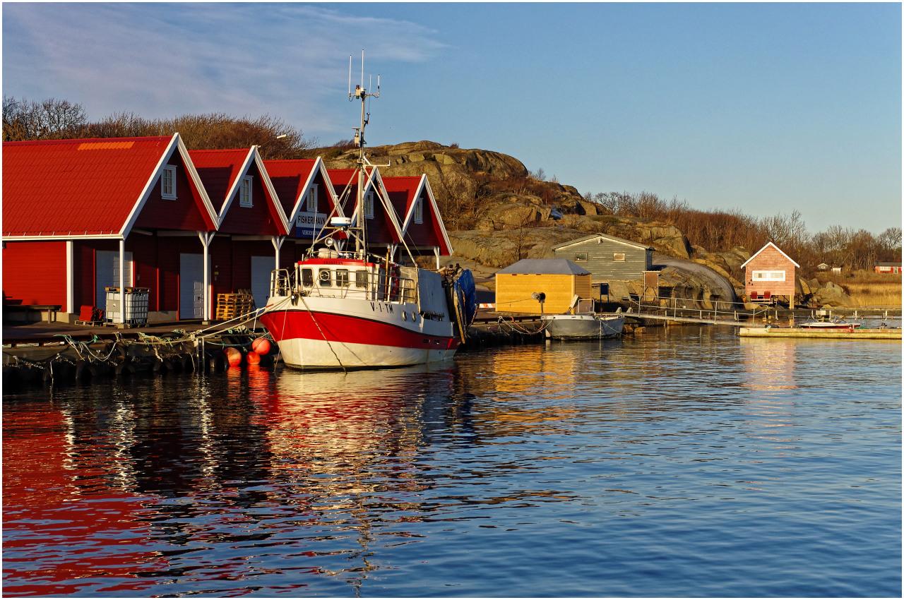 Ein kleiner Fischereihafen