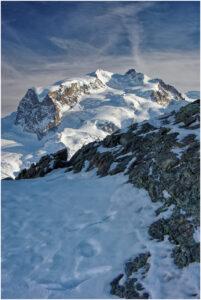 Monte Rosa im Winterlicht