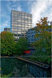 Moderne Architektur bei der Selnaubrücke