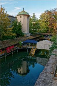 Das historische Männerbad beim Wasserturm