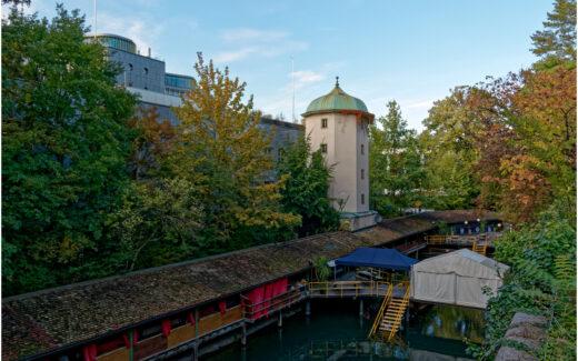 Das historische Männerbad am Schanzengraben