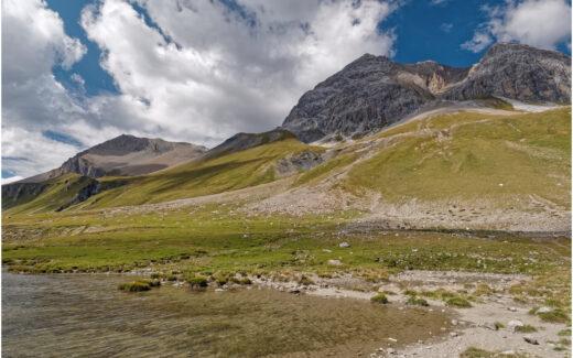 Blick vom Albulapass zum Piz Üertsch