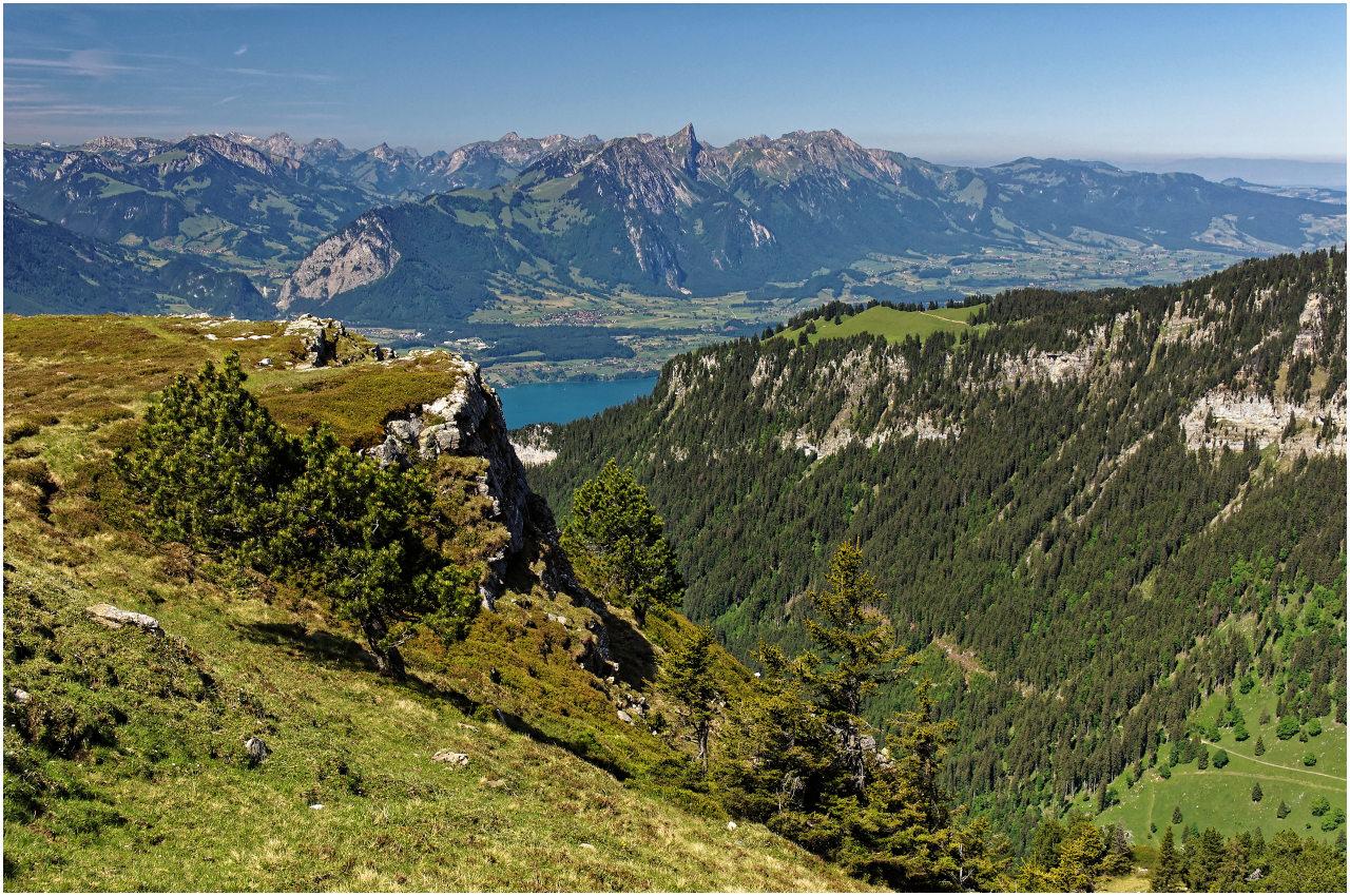 Ausblick vom Niederhorn zum Thunersee