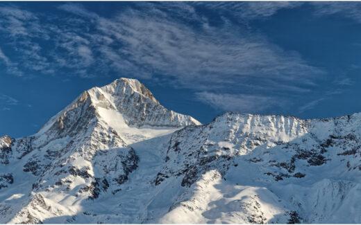 Blick von der Lauchernalp zum Bietschhorn