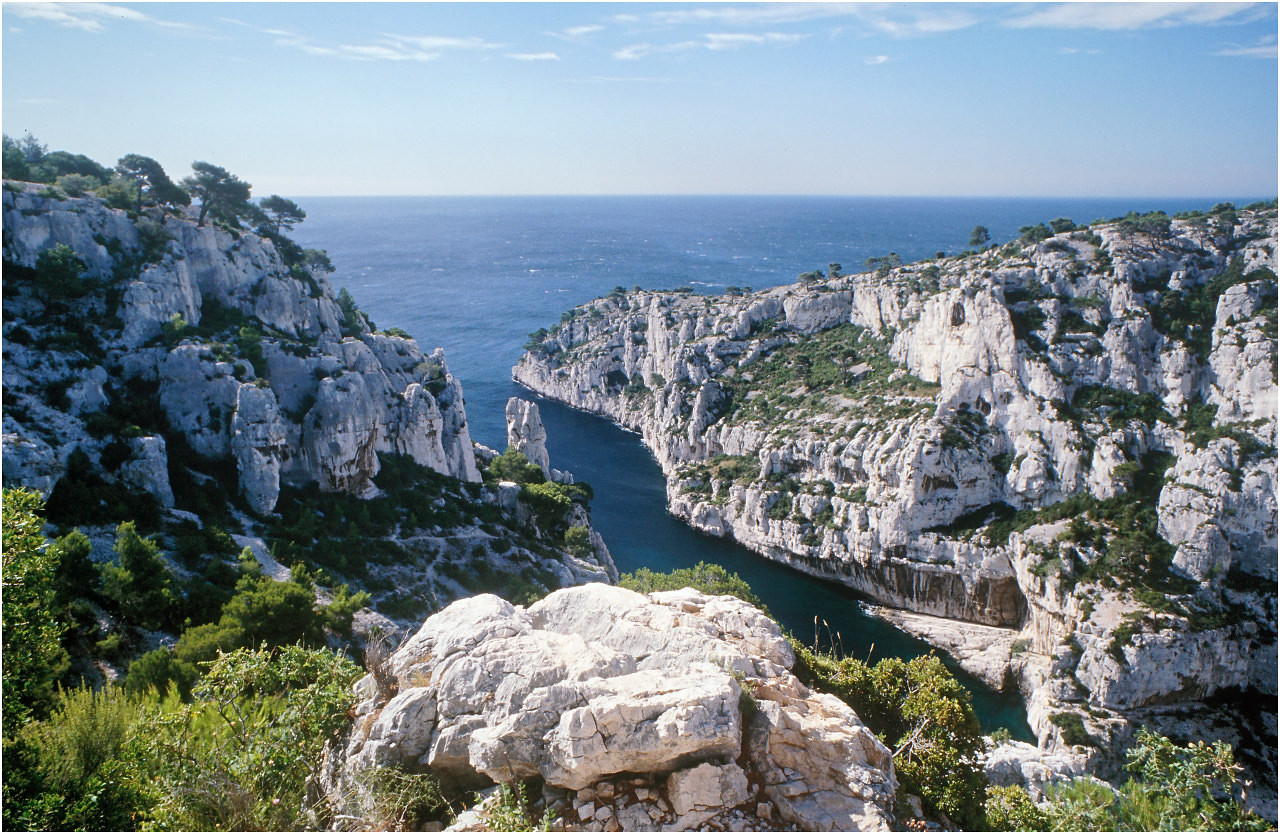 Blick auf die Calanque d'En-Vau bei Cassis