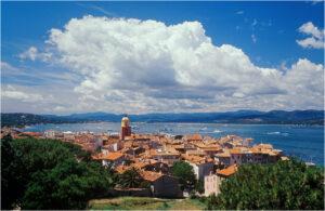 Blick über die Bucht von Saint-Tropez