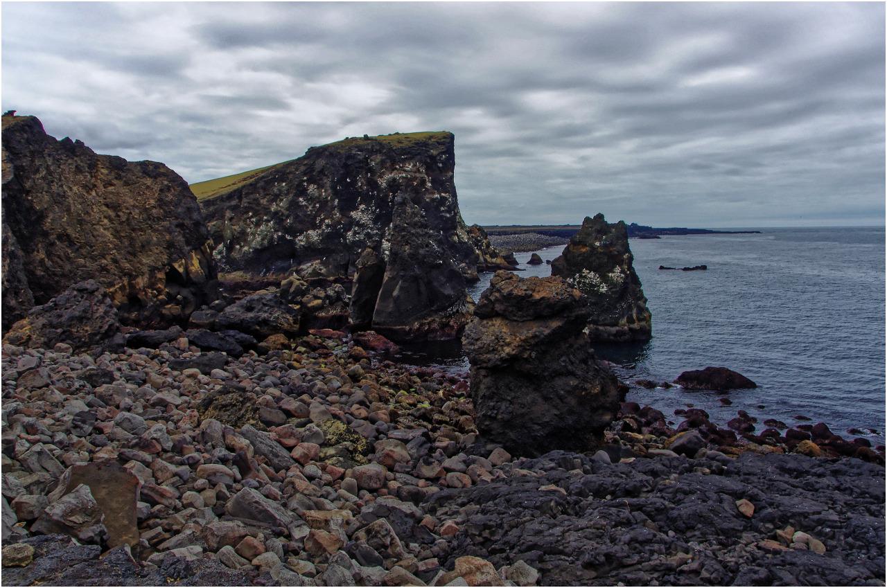 Die Küste bei Reykjanesviti