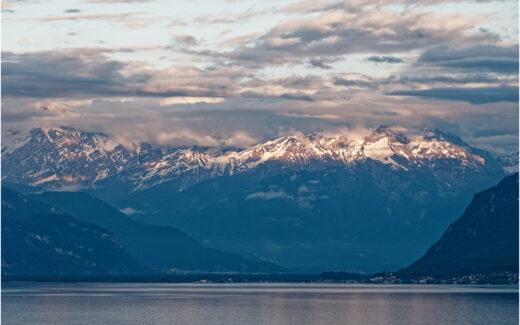 Blick auf die Alpen im Chablais Valaisan