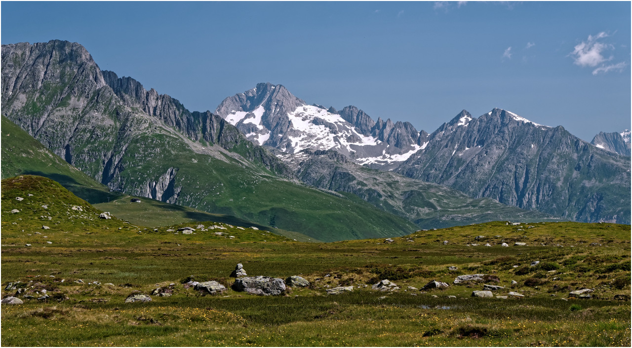 Und ein letzter Blick über das Moor von Plidutscha zum Oberalpstock