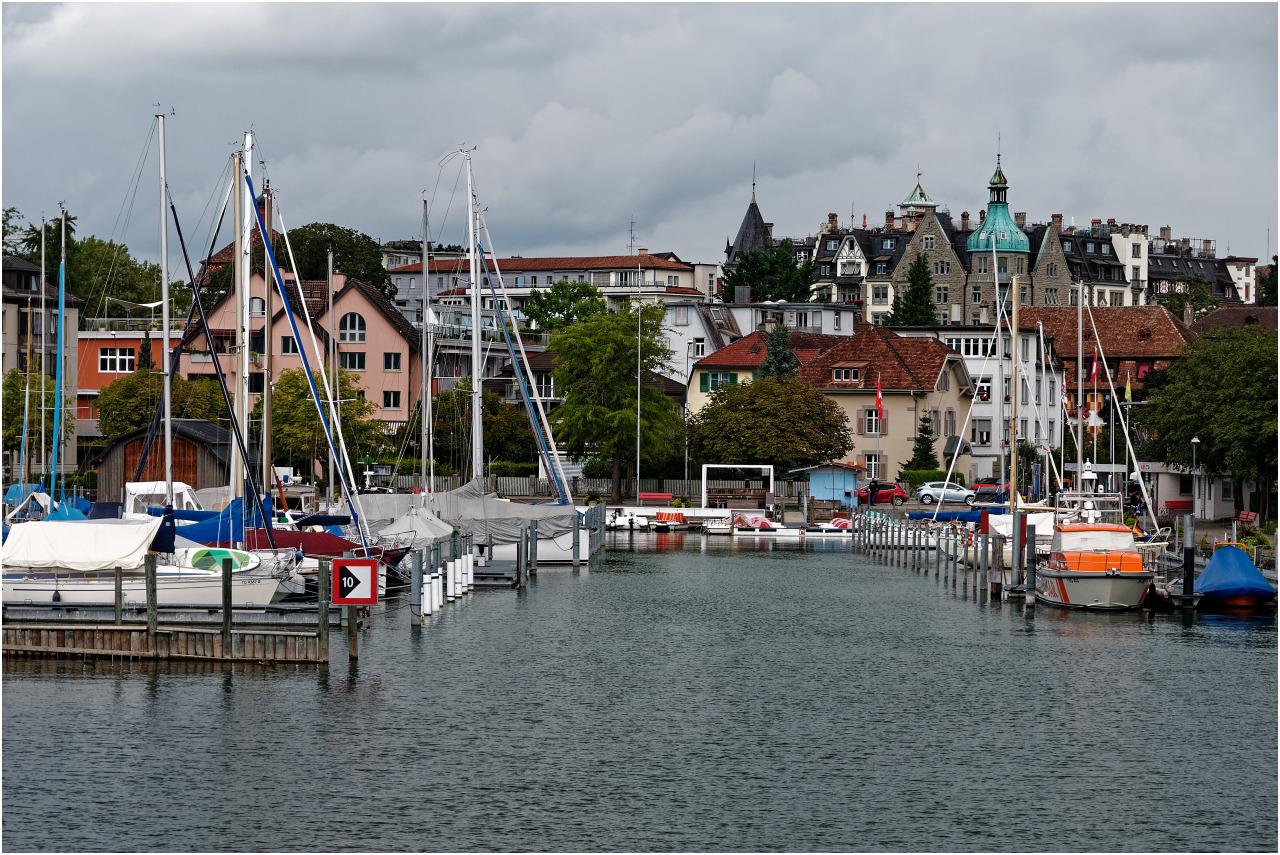 Der Hafen von Horn am Bodensee