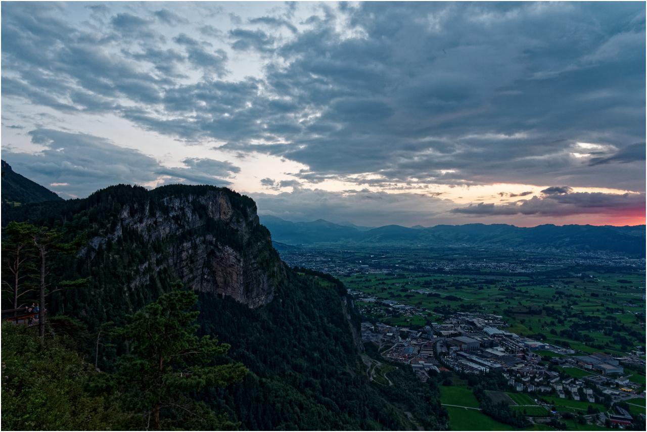 Abendlicher Ausblick vom Karren oberhalb Dornbirn