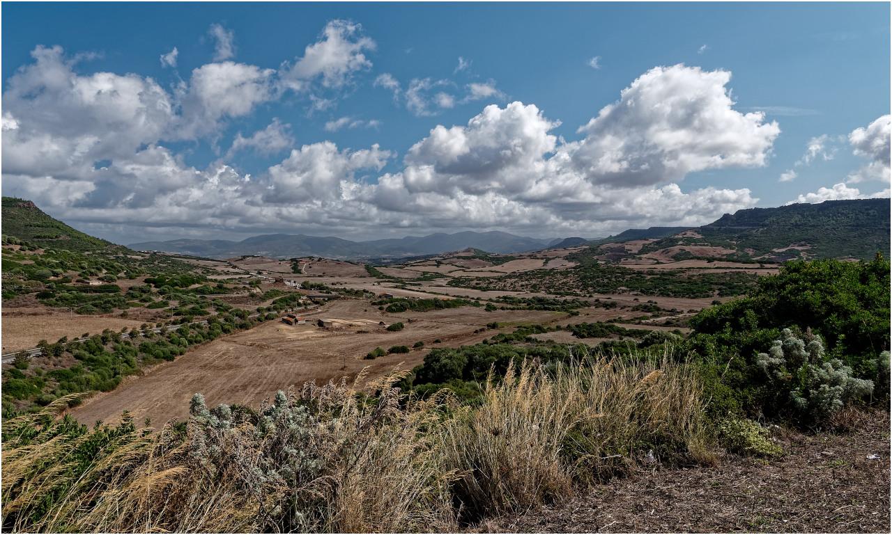 Die Landschaft im Hinterland von Castelsardo
